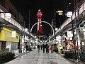 Tsutenkaku-Hondori Shopping Street and Tsutenkaku Tower at night 2.jpg