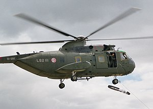 Tunisian Air Force - A Tunisian HH-3 helicopter participating in a rescue exercise in Bizerte