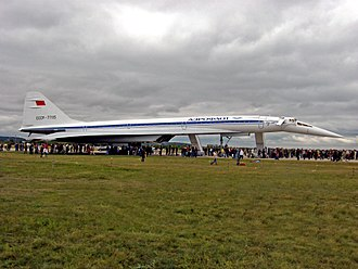 """Alexei Tupolev - The Tupolev Tu-144 (NATO reporting name: """"Charger"""") was one of the world's only two supersonic transport aircraft (SST) to enter civilian service, along with the Concorde, and was constructed under the direction of the Soviet Tupolev design bureau headed by Alexei Tupolev."""