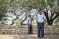 Two policemen stand inside the compound of Baidoa's Central Police Station in Somalia on June 20. AMISOM Photo - Tobin Jones (14281138397).jpg