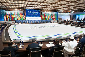 United States–Africa Leaders Summit - A session in progress