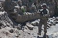 U.S. Army Sgt. Corey Garver, with Baker Company, 1st Battalion, 506th Infantry Regiment, 4th Brigade Combat Team, 101st Airborne Division, patrols through a village with Afghan National Army soldiers in Paktia 130529-A-CW939-055.jpg
