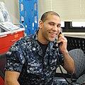 U.S. Navy hospitalman on phone.jpg