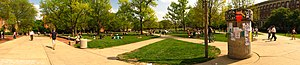 Campus of the University of Illinois at Urbana–Champaign - A panorama facing southeast on UIUC's Main Quad