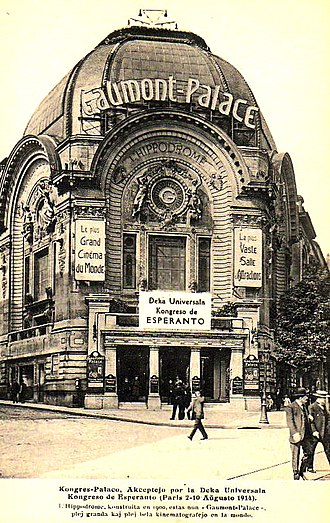 Cinema of France - Gaumont palace in Paris, c.1914