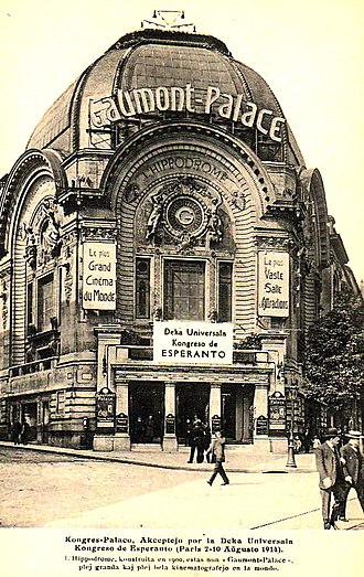 Cinema of France - Gaumont palace in Paris, c.1914