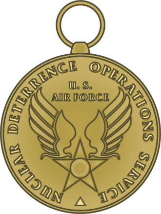 Nuclear Deterrence Operations Service Medal - Image: USAF Nuclear Deterrence Operations Service Medal Reverse