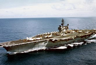 USS Constellation (CV-64) - Constellation underway off Vietnam, 1971–72.