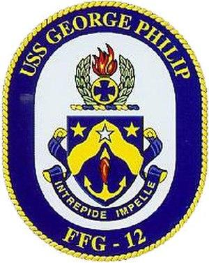 USS George Philip (FFG-12) - Image: USS George Philip (FFG 12) crest