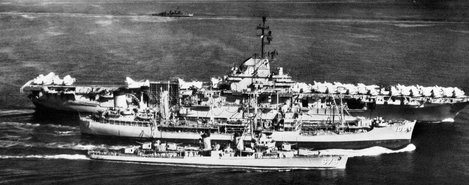 USS Lexington (CVA-16) underway during 1958 Taiwan Strait Crisis