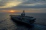 USS Ronald Reagan patrols waters south of Japan. (34951043146).jpg