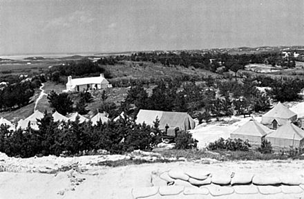 US Army battery at Turtle Hill, within Warwick Camp, Bermuda in WWII