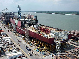 San Antonio-class amphibious transport dock - Image: US Navy 020830 N 9999T 002 Pre commissioning unit San Antonio (LPD 17)