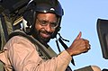 US Navy 030831-N-9319H-006 The Honorable Richard L. Baltimore, US Ambassador to Oman, gives a thumbs up.jpg