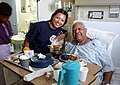 US Navy 030908-N-0606B-004 Chief Hospital Corpsman (Select) Jonnalynn Cummings visits with Air Force veteran Leon Gilbert at Chicago's Westside VA Hospital during Chicago CPO Pride Day.jpg