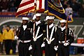 US Navy 041101-N-0000X-001 A U.S. Navy color guard assigned to Naval Reserve Center Bronx, New York, parade the colors during the opening ceremony for Monday Night's Football game.jpg