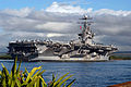 US Navy 050223-N-8157C-077 The Nimitz-class aircraft carrier USS Abraham Lincoln (CVN 72) arrives in Pearl Harbor, Hawaii for a port visit.jpg