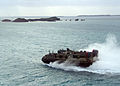 US Navy 070301-N-6710M-001 A landing craft air cushion (LCAC) prepares to enter the well deck of dock landing ship USS Tortuga (LSD 46) after conducting LCAC maintenance turns.jpg
