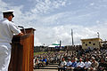 US Navy 070522-N-2653P-001 Commander, United States Southern Command Adm. James Stavridis, addresses JTF-GTMO personnel and guests.jpg