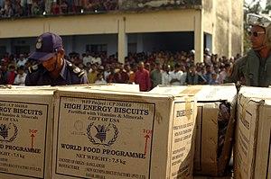 High Energy Biscuits - High energy biscuits delivered to Bangladesh after Cyclone Sidr