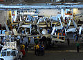 US Navy 110211-N-6908J-024 Aircraft and maintenance equipment assigned to Carrier Air Wing (CVW) 14 are in the hangar bay aboard USS Ronald Reagan.jpg
