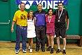 US Senior International Badminton Tourney (Miami) - XD65 Consolation Final - Manuel & Dora def Bruce & Marysusan 15 & 9 (16463591609).jpg