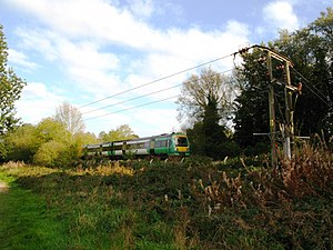 Oxted line - Southern Class 171 (171729) approaches Uckfield station