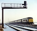 "Unidentified class 45 ""Peak"" on the Midland Main Line south of Loughborough, Nigel Tout, Jan. 1979.jpg"