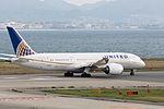 United Airlines, UA34, Boeing 787-8 Dreamliner, N29907, Departed to San Francisco, Kansai Airport (17197427335).jpg