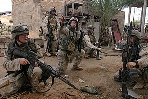 OKC-3S bayonet - U.S. Marines with OKC-3S bayonets fixed to their M16A4 rifles during the Second Battle of Fallujah, November 2004.