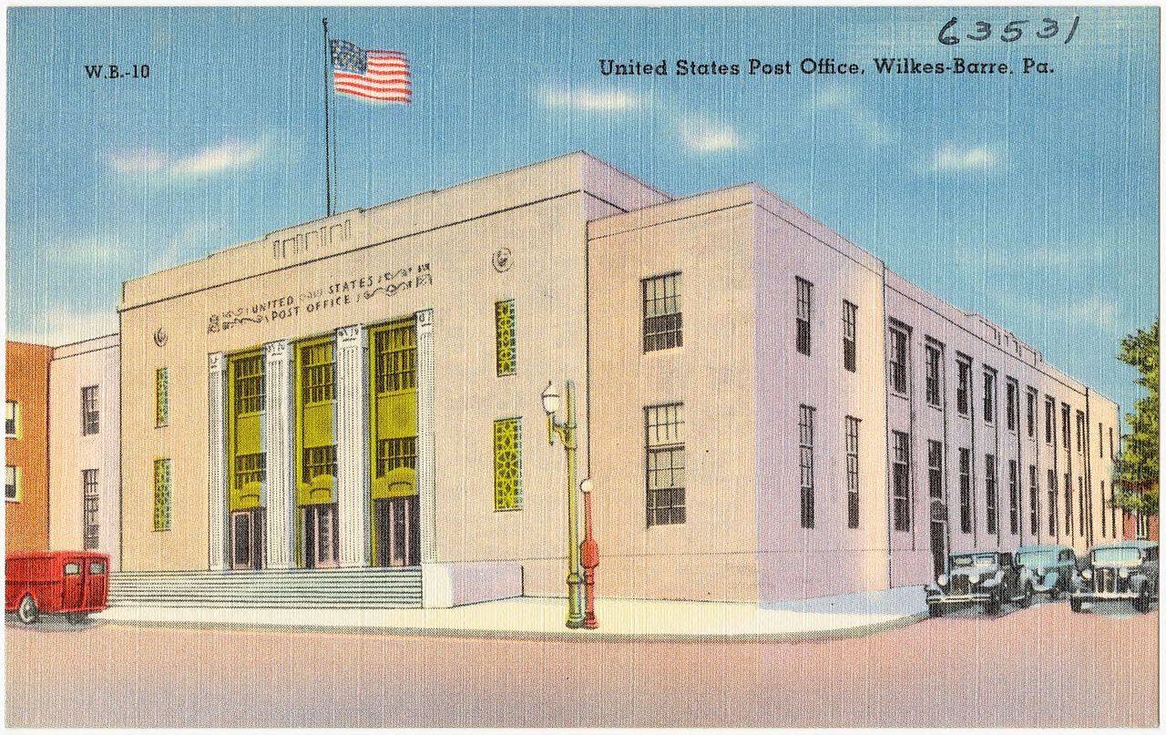 File united states post office wilkes barre pa 63531 jpg wikipedia - United states post office ...