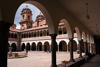 Old campus of the colonial university San Antonio Abad in Cusco, Peru. Universidad Nacional de San Antonio Abad del Cusco Peru.jpg