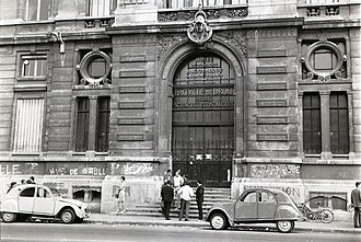 "May 1968 events in France - ""Vive De Gaulle"" is one of the graffiti on this Law School building."