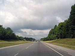 La US-30 West en las inmediaciones de Ontario, Ohio.