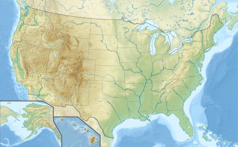 Voir la carte topographique des États-Unis