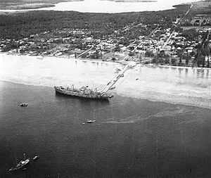 USS Betelgeuse alongside the pier at Tongatapu, Tonga Islands, 8 June 1942