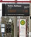 VAG-Haltestelle; alte Bezeichnung Technisches Rathaus, neue Bezeichnung Rathaus im Stühlinger.jpg