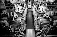 VII C U-Boot Dieselraum