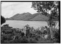 VILLAGE RUINS FROM SOUTHEAST, MARY POINT IN BACKGROUND - Estate Annaberg, Annaberg, St. John, VI HABS VI,2-MABA,1-2.tif