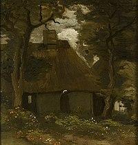 Van Gogh - Bauernhaus mit zwei Bäumen und Bäuerin.jpeg