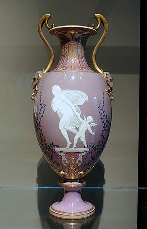 Marc-Louis Solon - Vase by Marc-Louis Emanuel Solon, Sèvres Porcelain Factory, 1869, at Wadsworth Atheneum - Hartford, CT