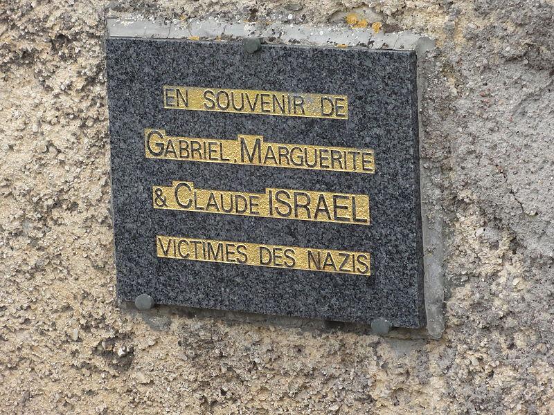 Vaucouleurs (Meuse) cimetière juif, plaque, 2 victimes des Nazi