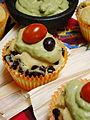 Vegan Cinco de Mayo Celebration Black Bean Tamale Cupcake with Guacomole (3491977397).jpg