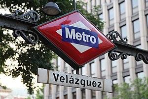 Velázquez (Madrid Metro) - Image: Velazquez metro