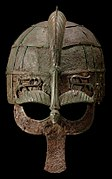 Colour photograph of the Vendel 1 helmet
