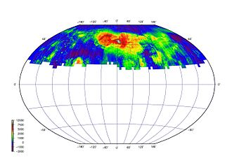 Venera - Radar topography obtained by Venera 15/16