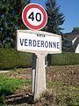 Verderonne (60), plaque Michelin de 1934, rue du Plantin.jpg