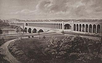 Chemin de fer de Petite Ceinture - The Auteuil bridge-viaduct (dit: 'Point du Jour') - built from 1863 to 1867, it connected the Ceinture Auteuil line to the Ceinture Rive Gauche open the same year.