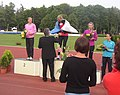 Victory ceremony W at TNT - Fortuna Meeting in Kladno 16June2010 197.jpg