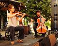 Vienna 2013-07-31 Stadtpark 261 Alp Bora Quartet - Julia Pichler, Lukas Lauermann.jpg